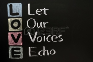 11714621-love-acronym-let-our-voices-echo-on-a-blackboard-with-words-written-in-chalk